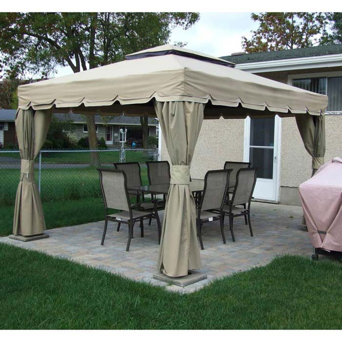 Pergola Canopy Provides Protection Against Sunrays And Rains