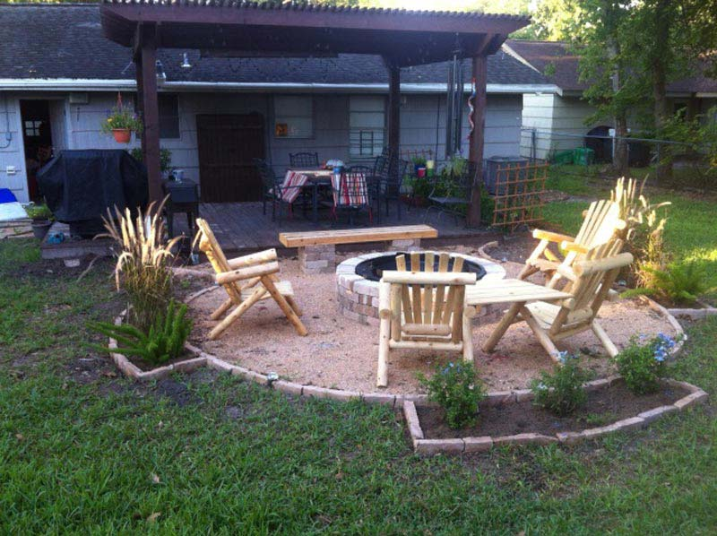 Backyard Fire Pit Area