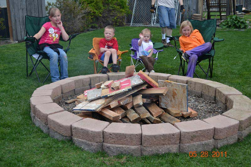 Backyard Fire Pit Construction