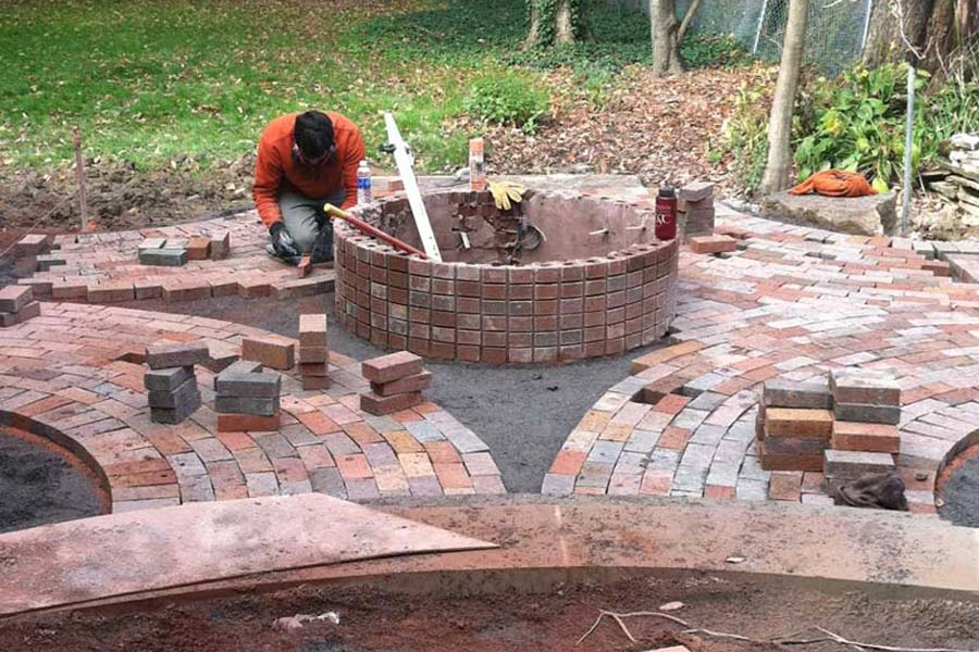 Brick Fire Pit Diy