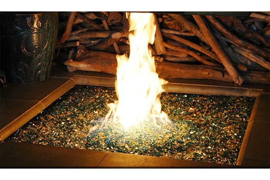 Broken Glass Fire Pit
