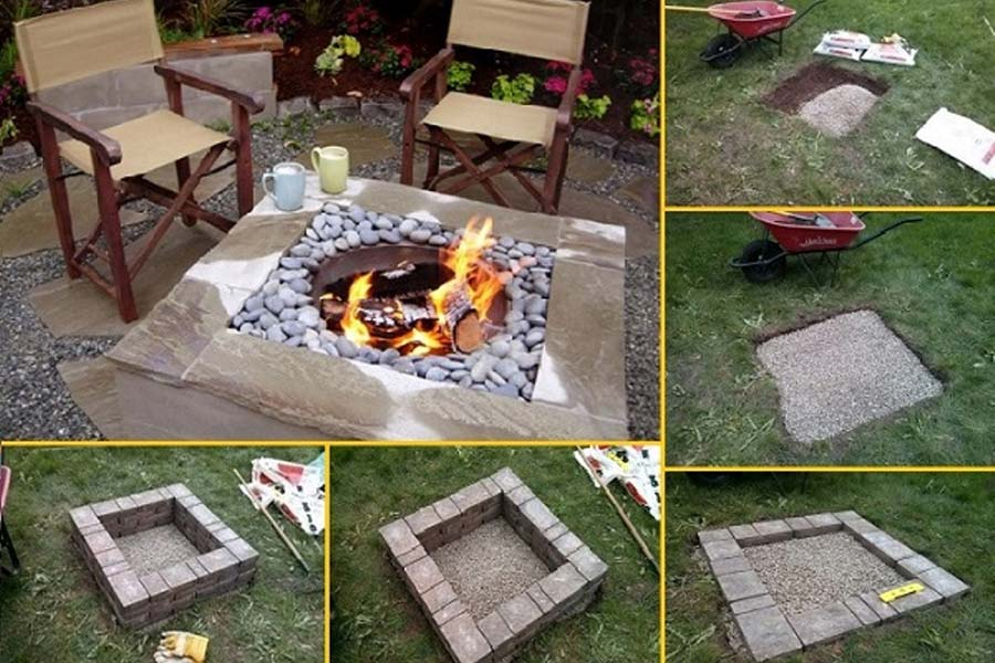 Build Your Own Fire Pit Table