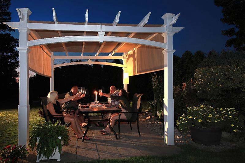 Covered Pergola Provides Protection Against Unfavorable Weather Conditions