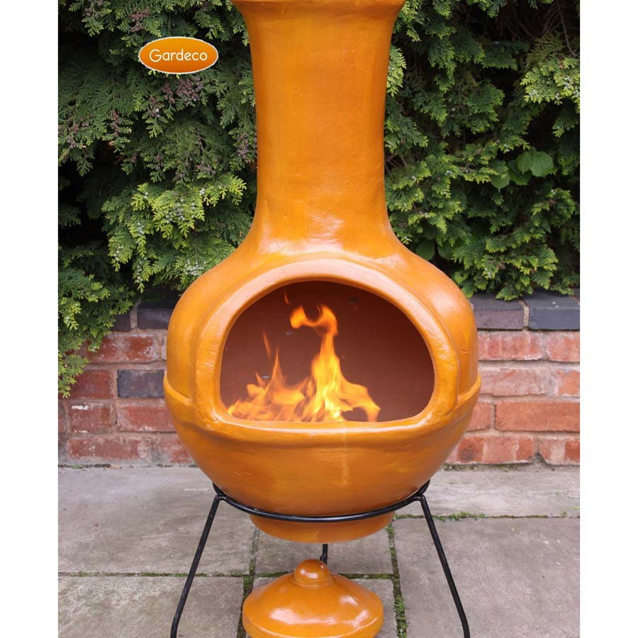 Ceramic Chiminea Fire Pit