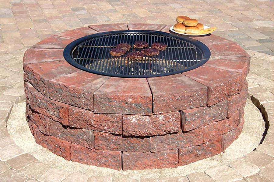 Clay Brick Fire Pit