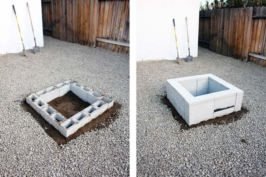 Concrete Blocks For Fire Pit