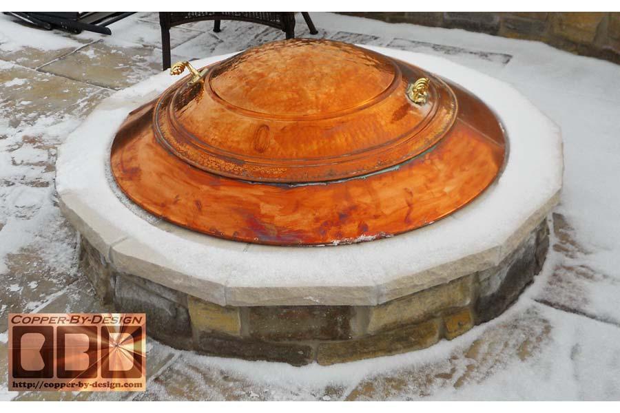 Copper Fire Pit Cover