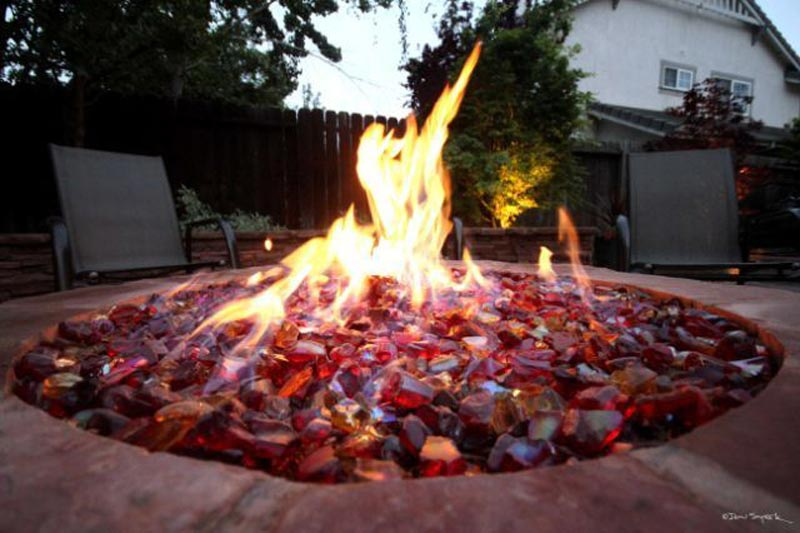 Crushed Glass Fire Pit
