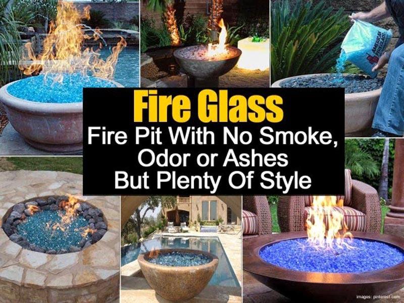 Fire Glass Fire Pit Diy