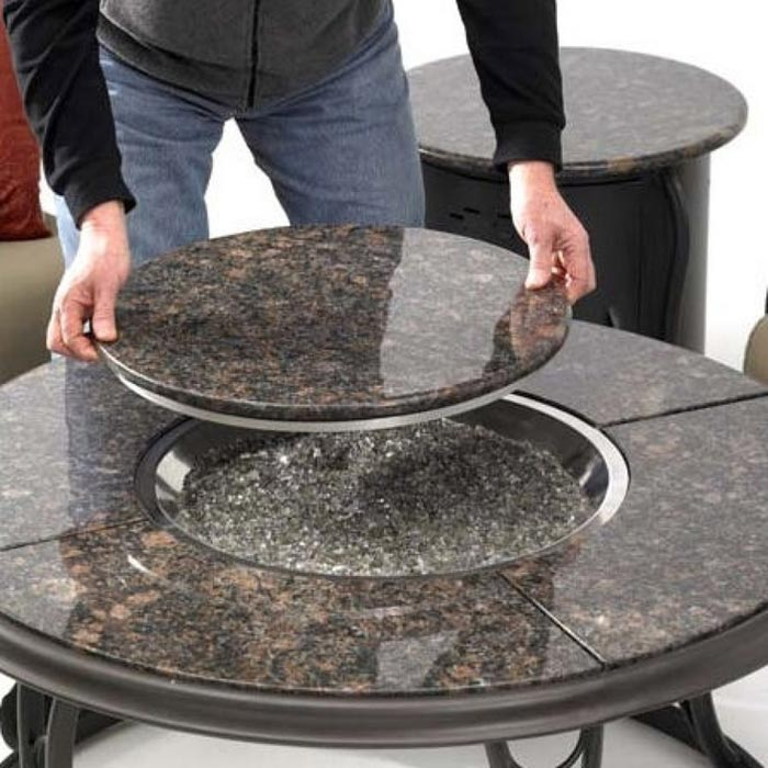Fire Pit With Removable Table Top