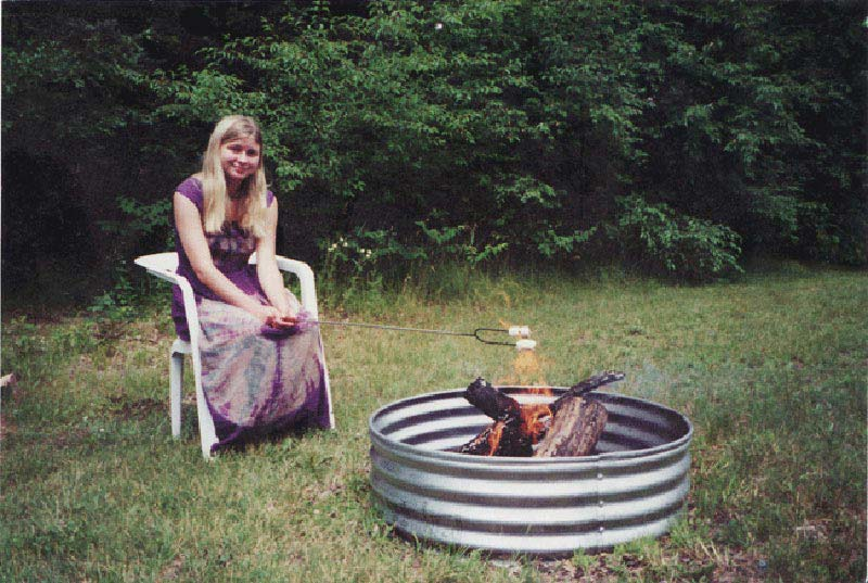 Galvanized Round Fire Pit Ring