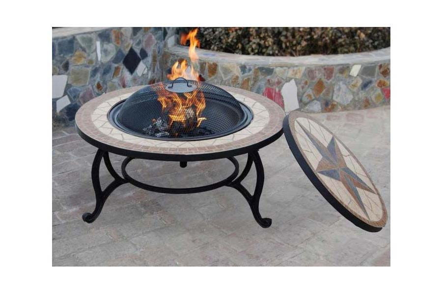 Gas Fire Pit Coffee Table Outdoor