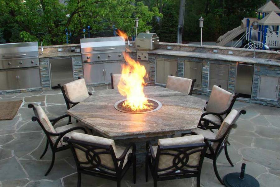 Gas Fire Pit Dining Table