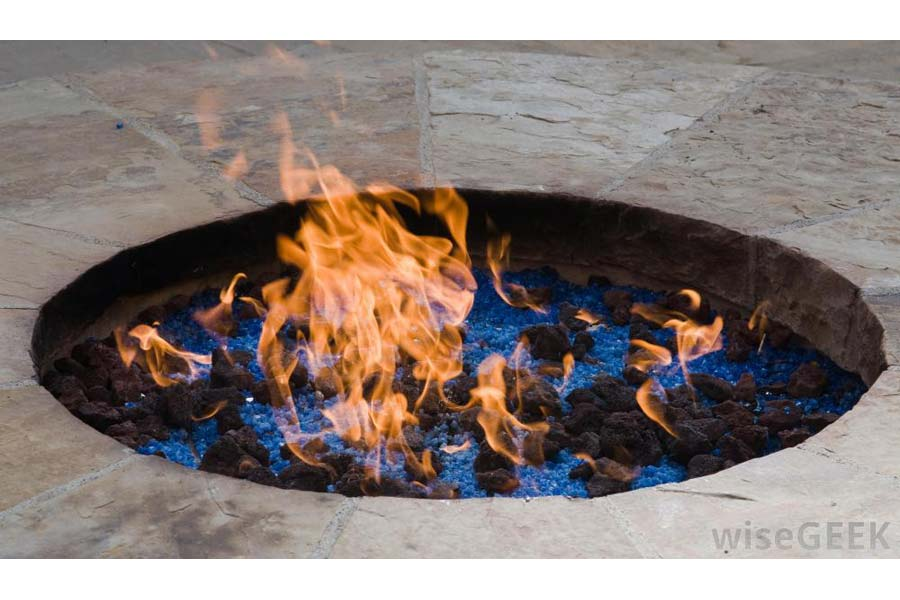Homemade Natural Gas Fire Pit