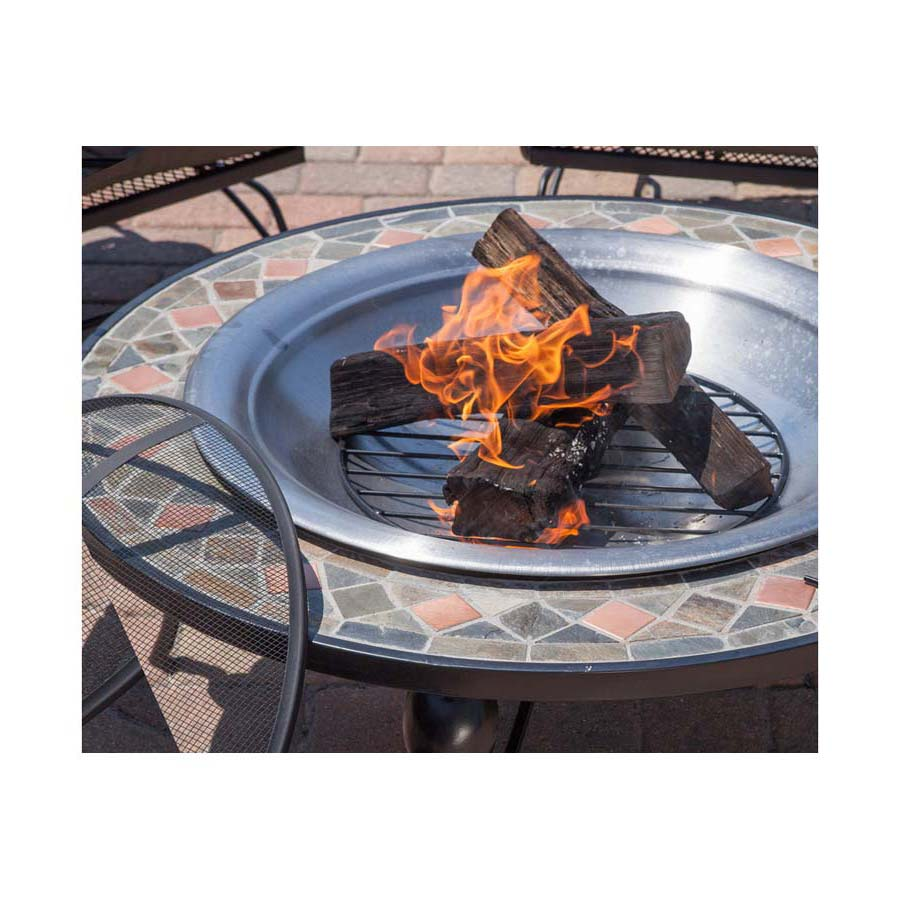 Mosaic 35 Stainless Steel Fire Pit