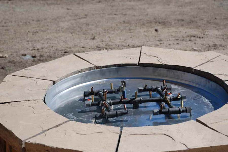 Natural Gas Outdoor Fire Pit Kits