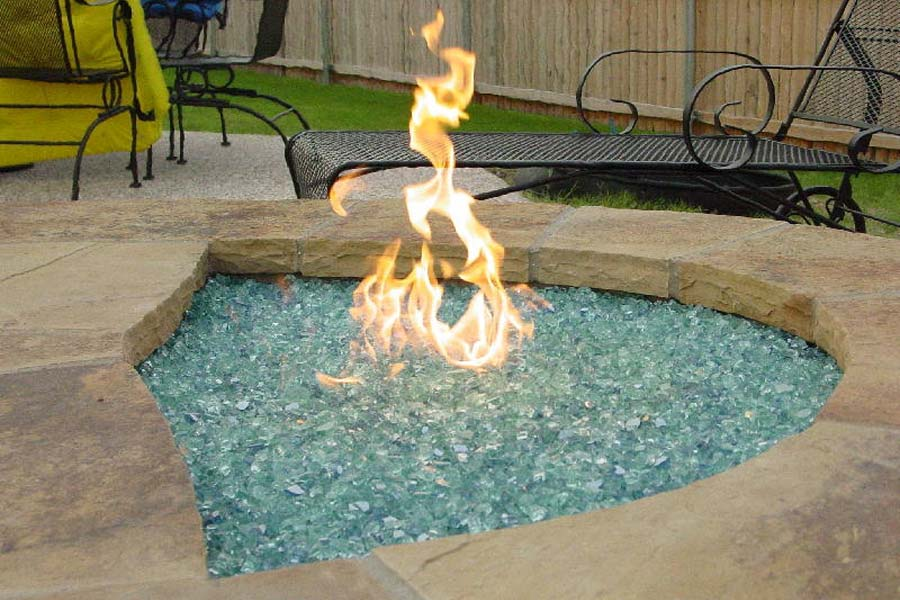 Outdoor Glass Fire Pit Kits