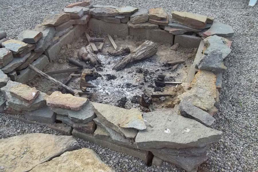 Rock Fire Pit Ideas