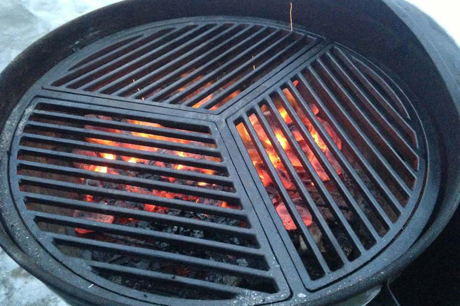 Round Fire Pit Grate Cast Iron