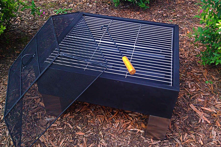 Square Stainless Steel Fire Pit