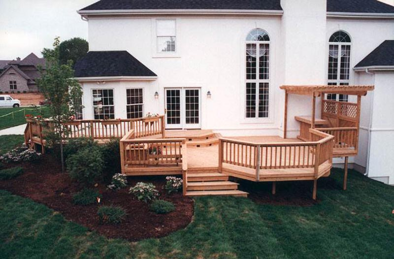 Wood Deck With Pergola