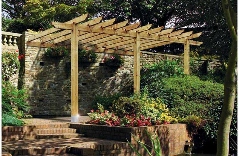 Wooden Lean To Pergola Kits