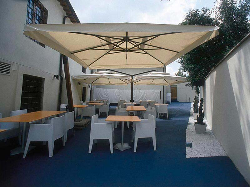 10 Ft Cantilever Patio Umbrella In Mocha With Black Frame