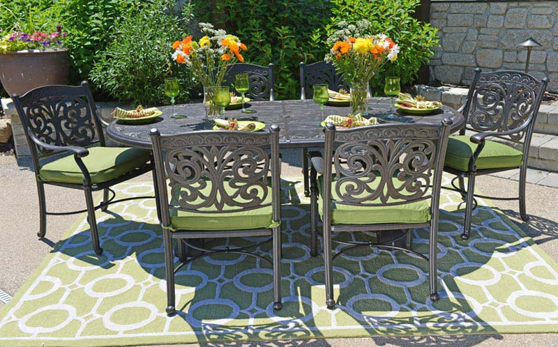 On Sale! : Special Dining Area for Cast Aluminum Patio ...