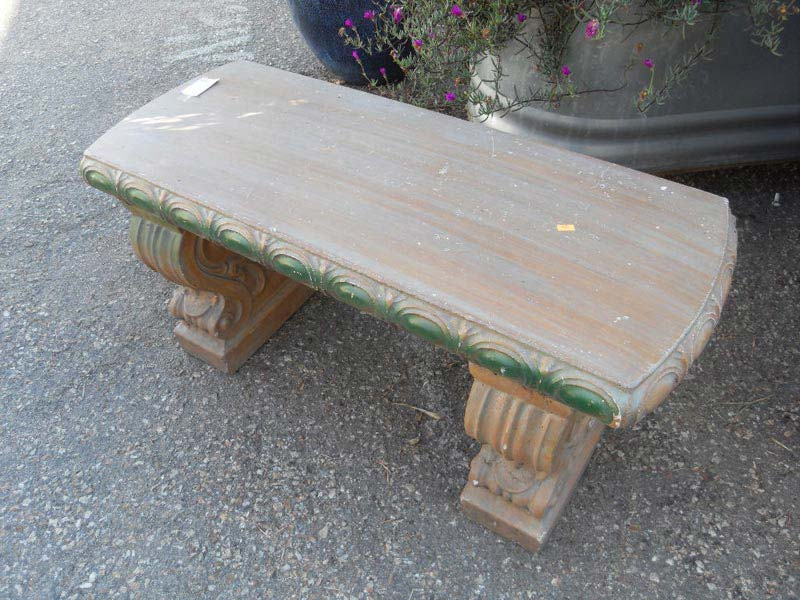 Cement Patio Benches
