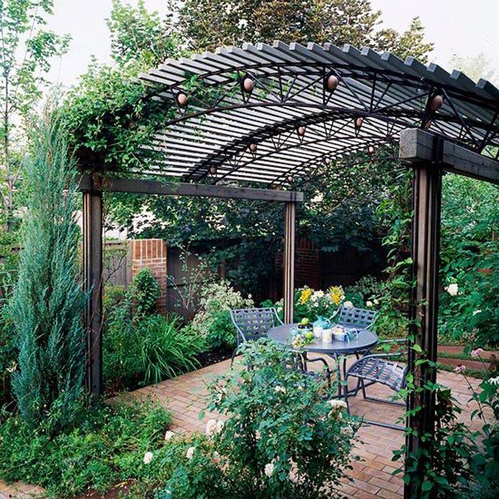 Curved Pergola Canopy