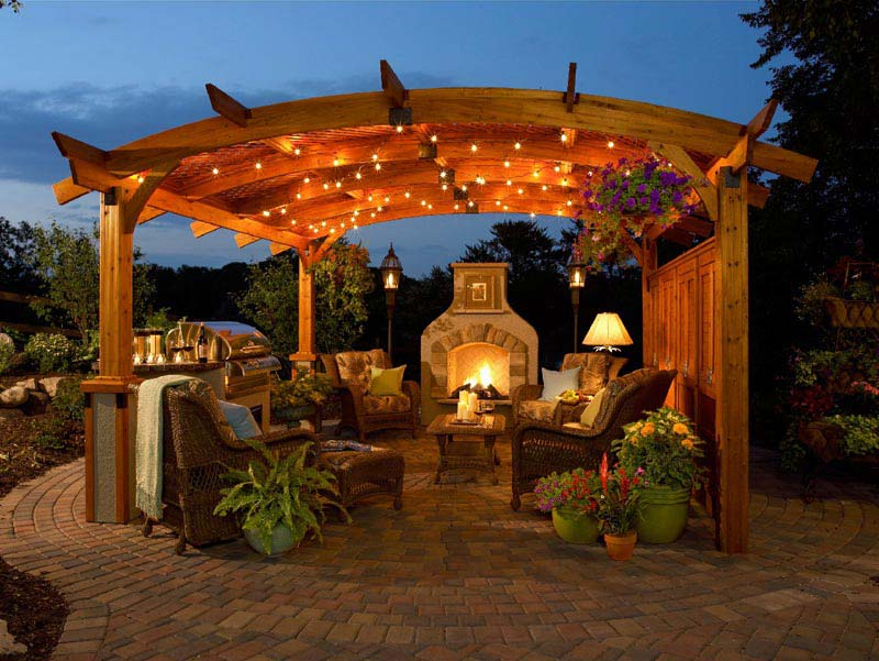 Decker 3 Piece Patio Pergola Bar Set