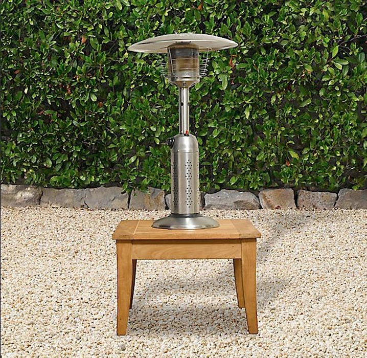 Fire Sense Propane Table Top Patio Heater Stainless Steel