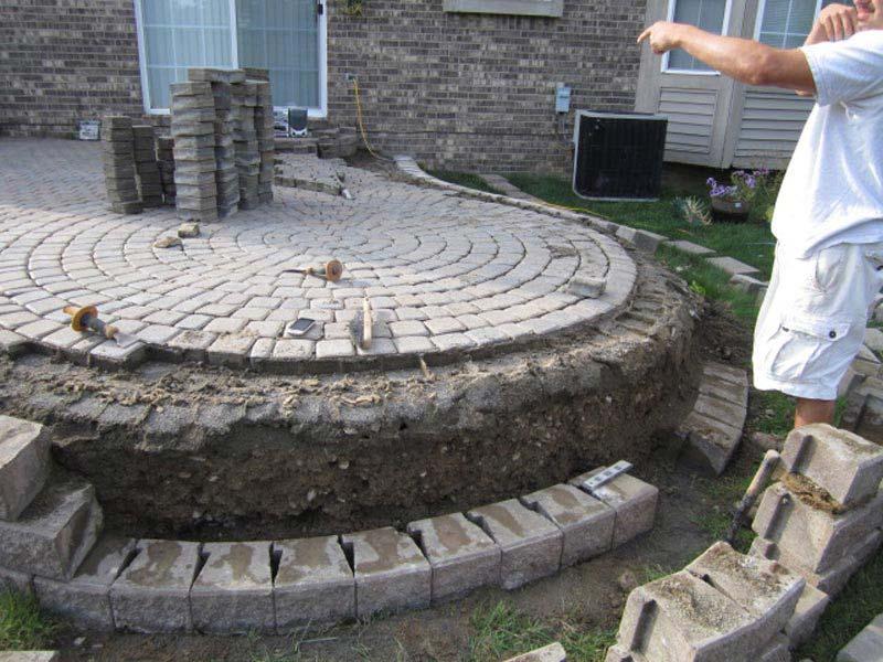 Installing Patio Bricks Over Concrete Slab