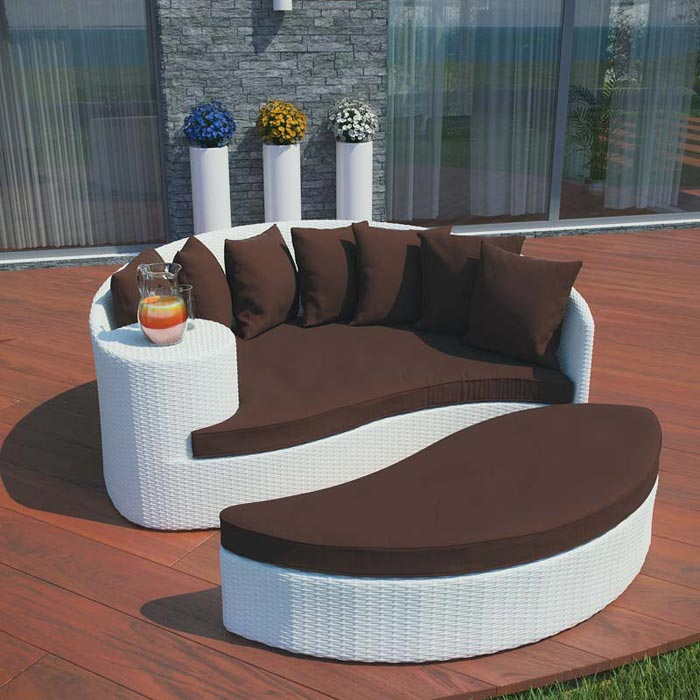 Lexus Wicker Patio Daybed Set