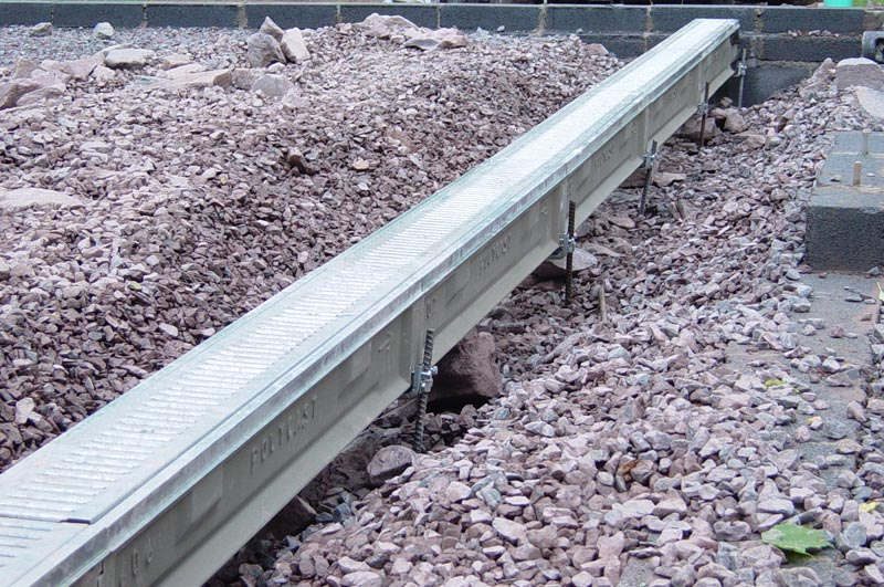 Metal Patio Drainage Channel