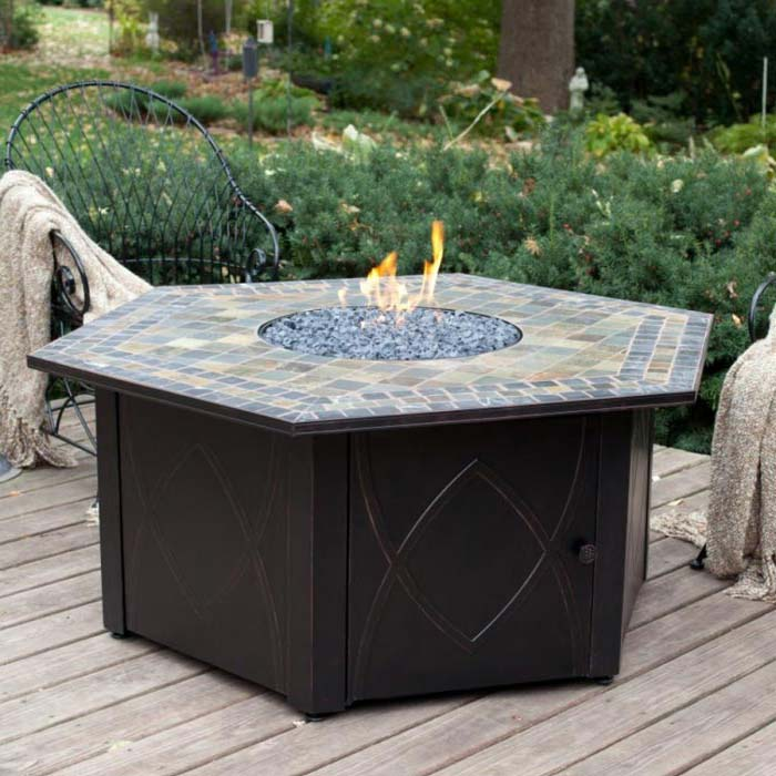 Mosaic Patio Table Gas