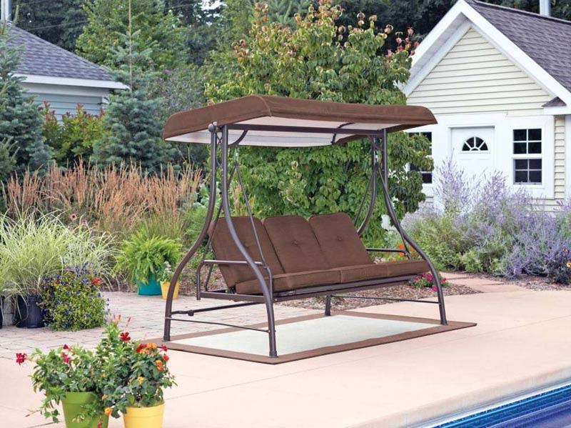 Outdoor Patio Pergola 3 Person Swing