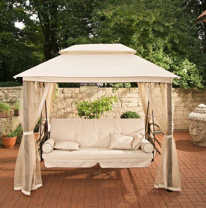 3 Person Patio Swing With Canopy