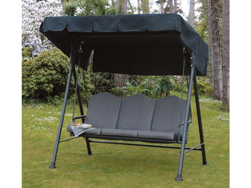 3 Seater Patio Swing With Canopy