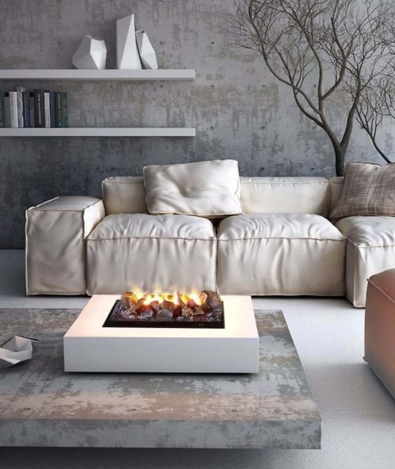Coffee Table With Fire Pit Indoor
