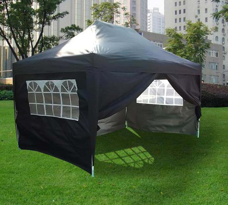 Pop Up Gazebo Black