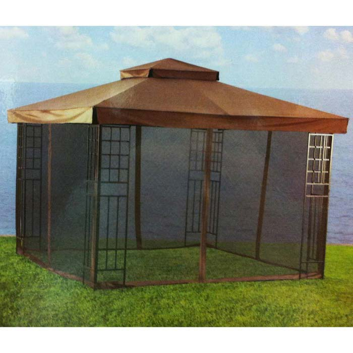 10X10 Gazebo Replacement Canopy With Netting