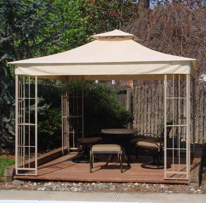 10X10 Replacement Gazebo Canopy Beige Top