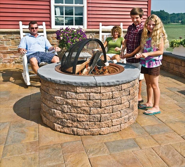 Take the warmth with the fire pit stones