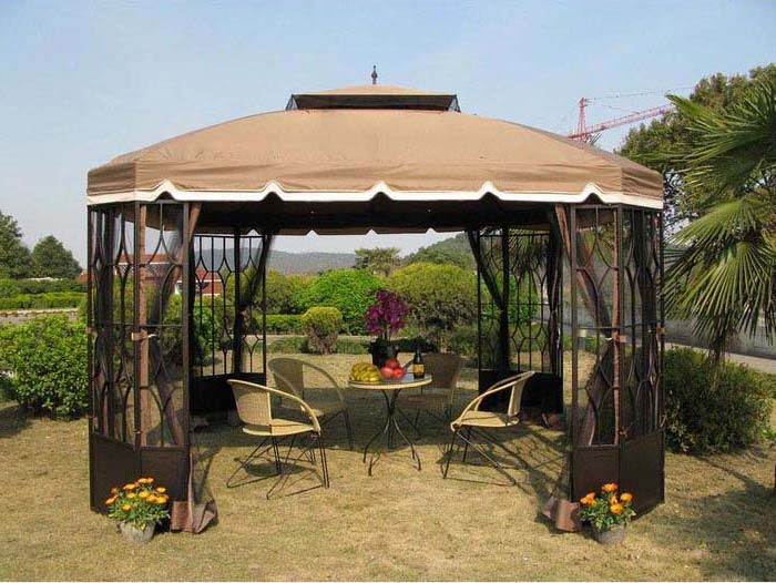 9 X 9 Gazebo With Netting