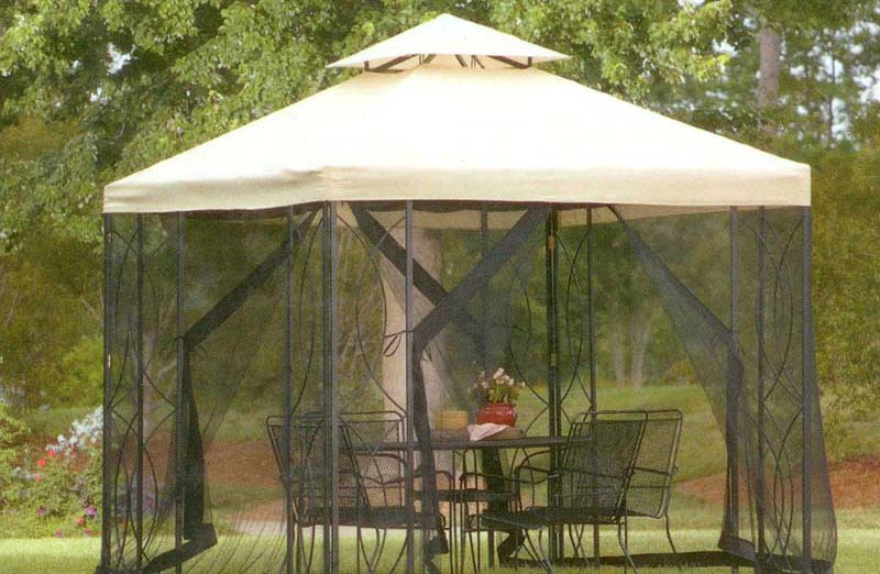 9X9 Gazebo With Netting