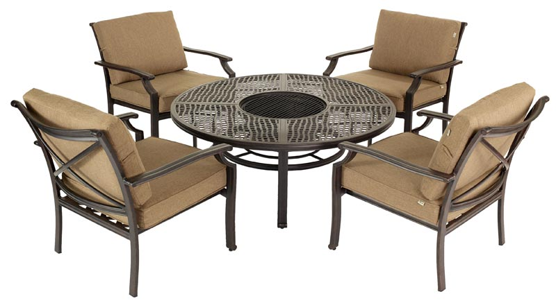Fire Pit And Chairs Set