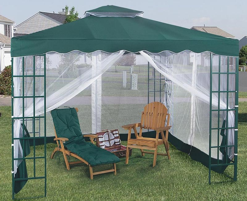 Pagoda Gazebo With Mosquito Netting