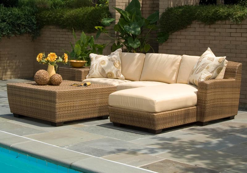 Patio Sofa and Table