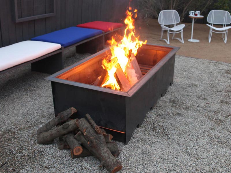 Rectangular Wood Burning Fire Pit
